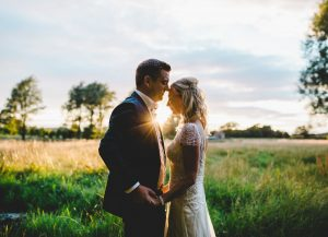 sunset at hipping hall hotel - wedding photography in the lakes