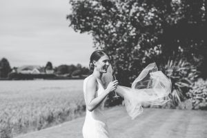 West Tower Wedding images - bride and veil