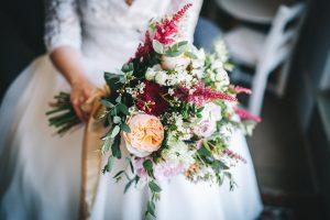 close up of bouquet - lancashire wedding photography