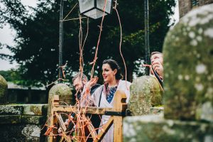 penny throwing - a lake district wedding tradition