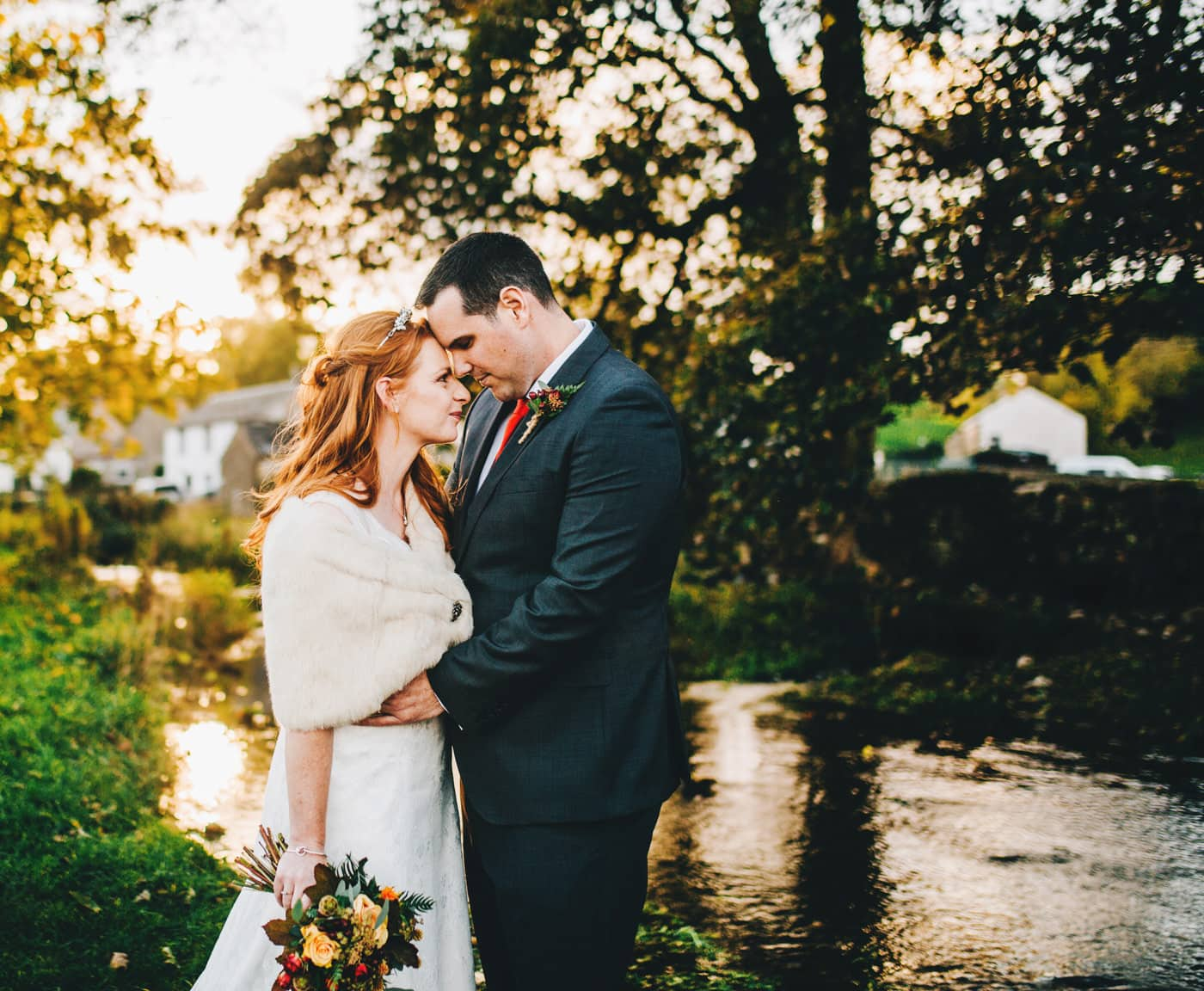 golden hour portraits - lake district wedding photographer