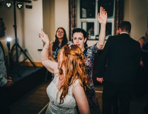 Dancing at village hall wedding in the lake district