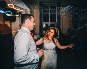Village hall wedding in the lakes - dance floor pictures