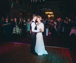North West Wedding Photography - bride and groom on dancefloor