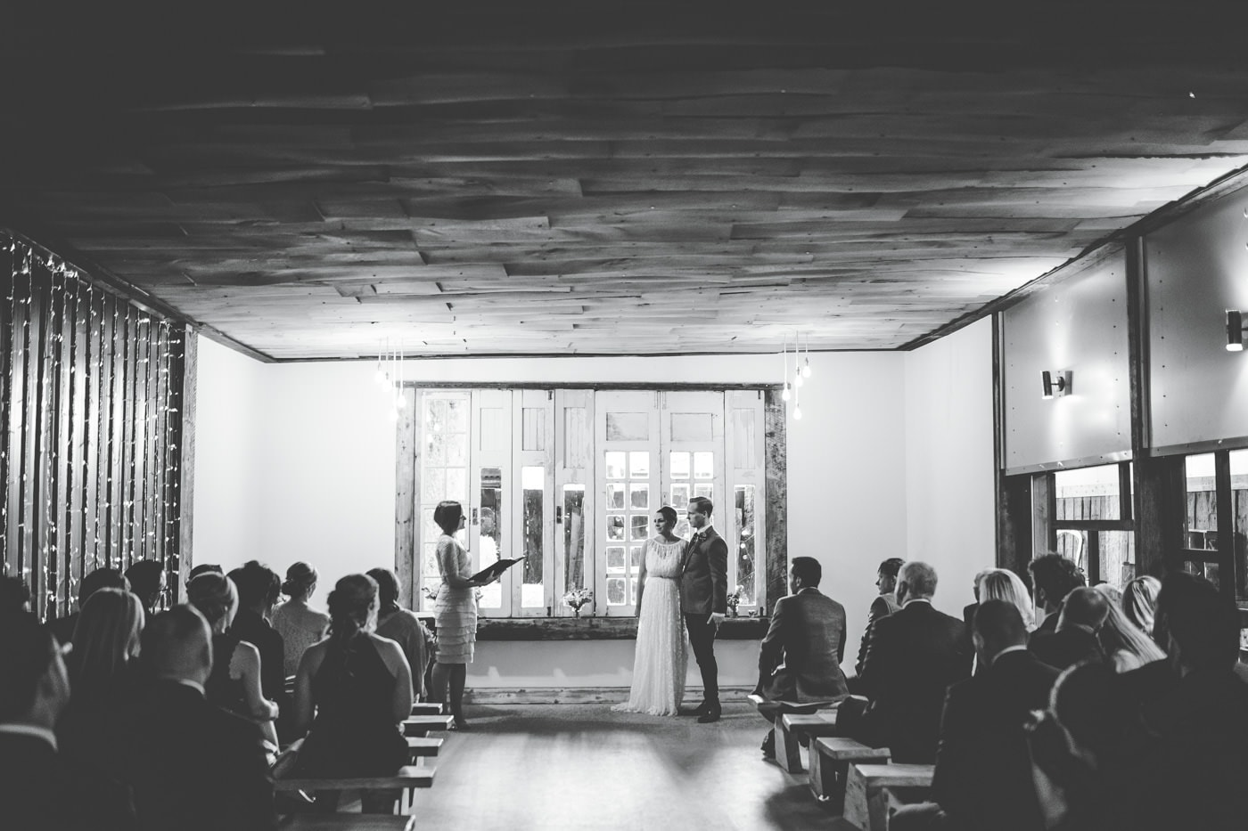 humanist ceremony at Owen House wedding barn