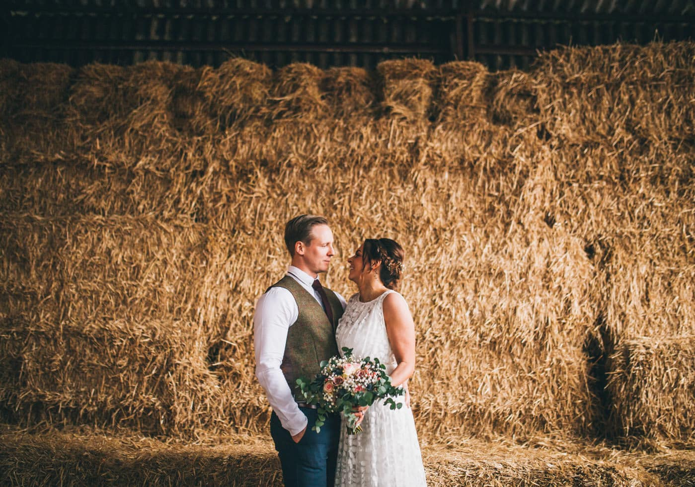 creative portraits at Owen House wedding barn cheshire