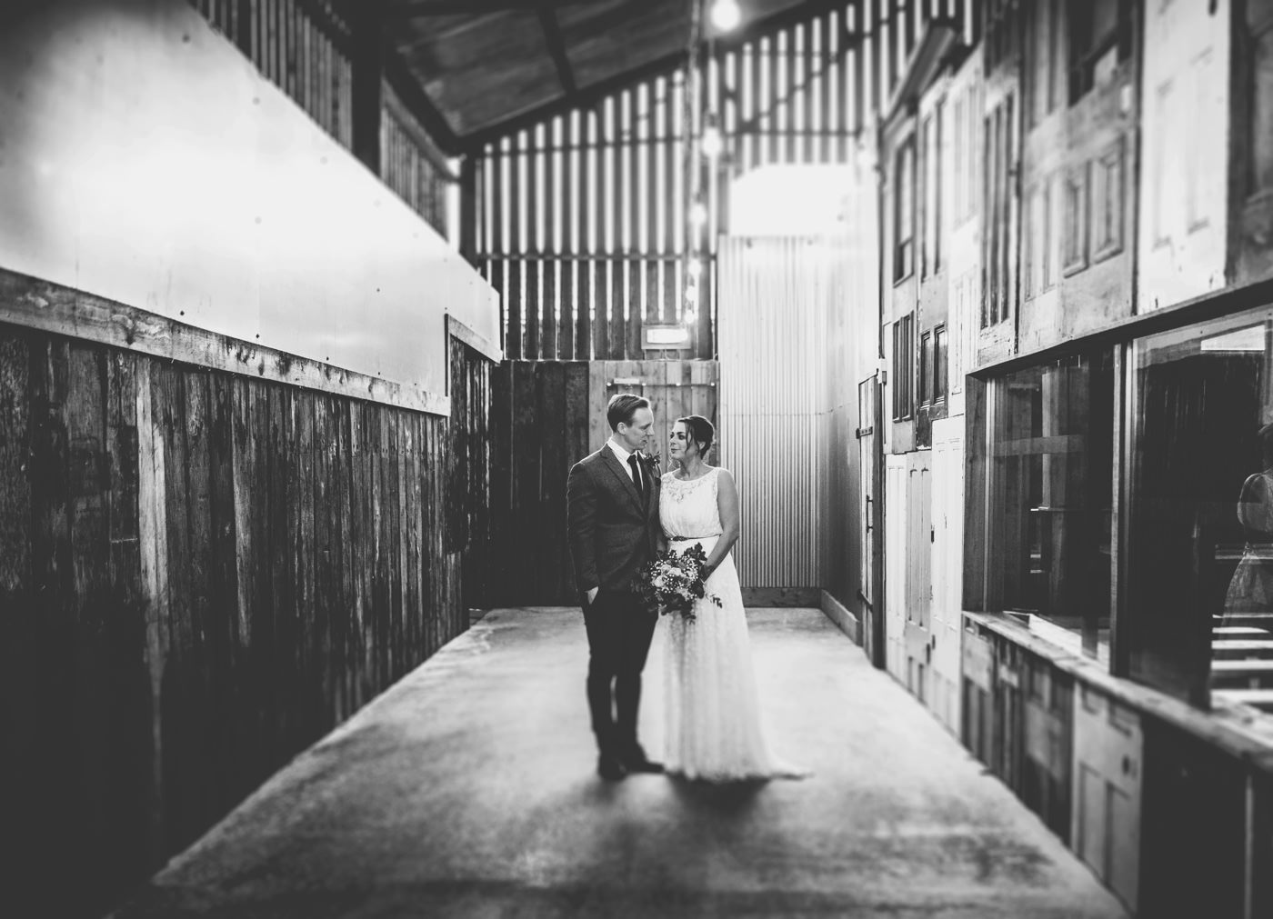 Creative wedding photography at Owen House wedding Barn