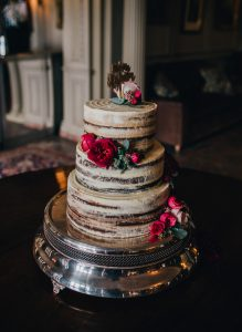 naked cake at thornton manor wedding