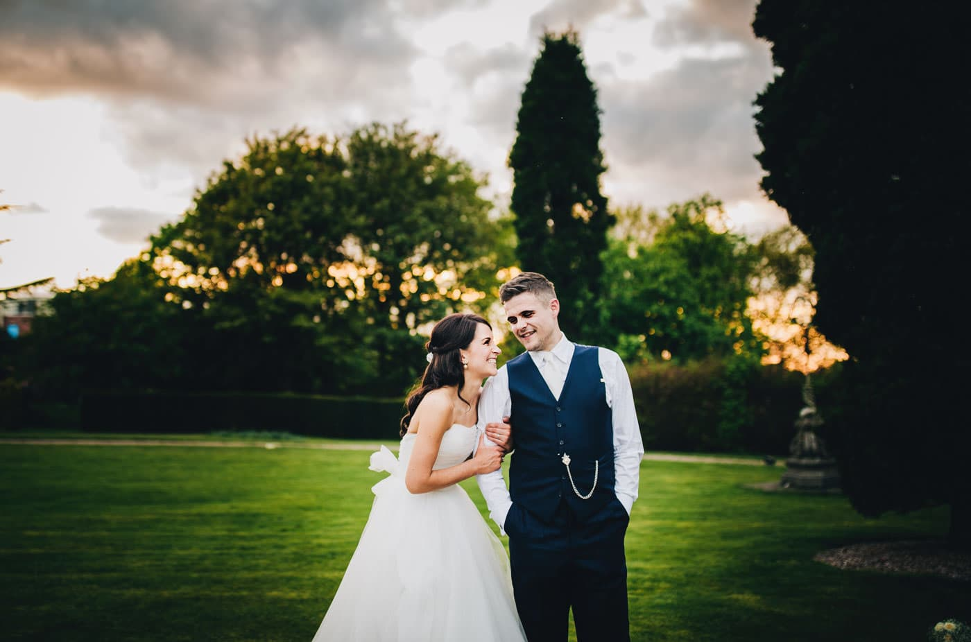 Crewe Hall wedding pictures - bride and groom