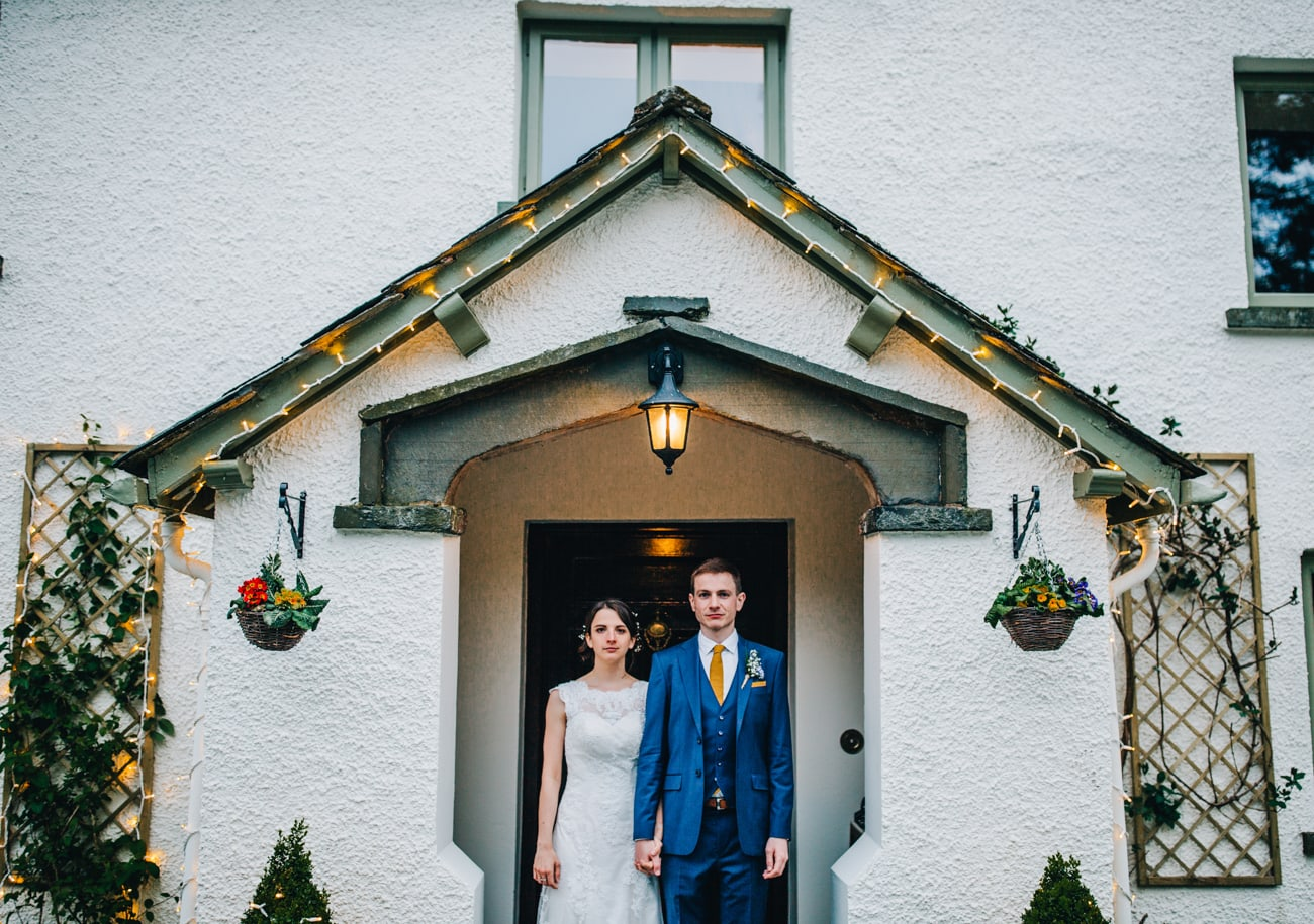 quirky wedding portraits at Cote How Rydal
