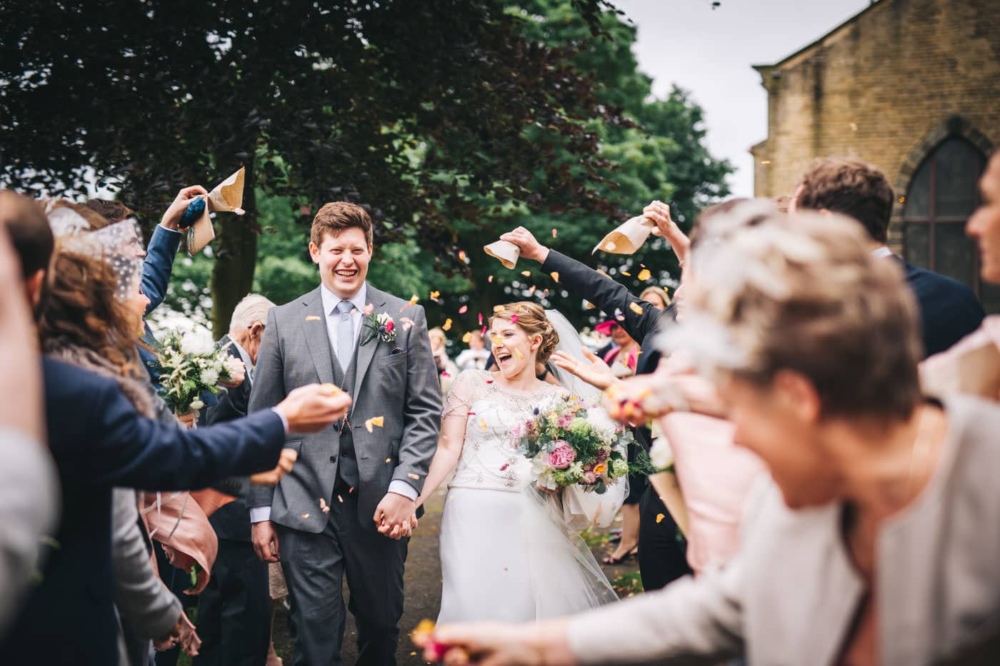 cheshire wedding photography - confetti