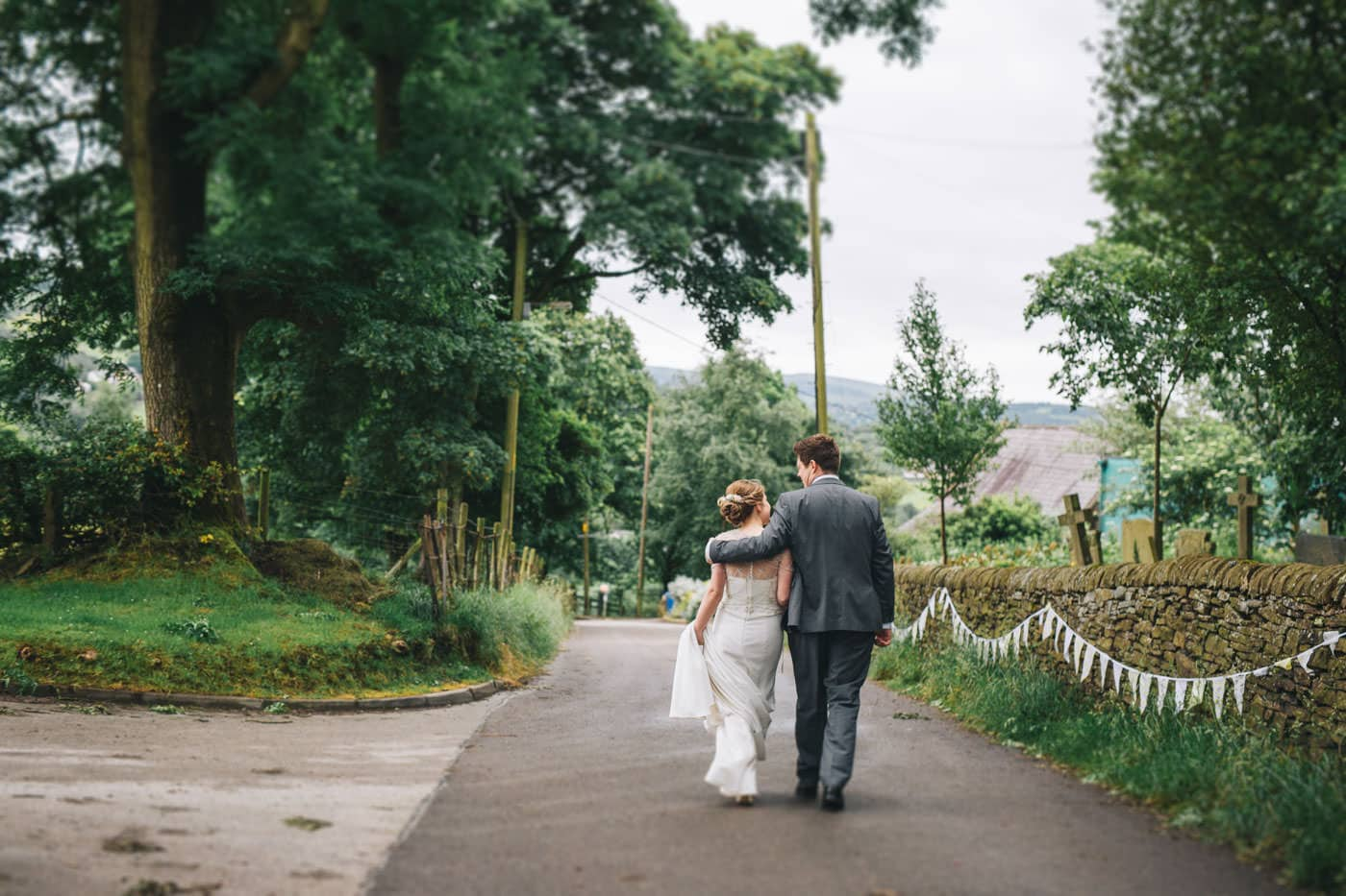 relaxed wedding portraits - village hall wedding cheshire