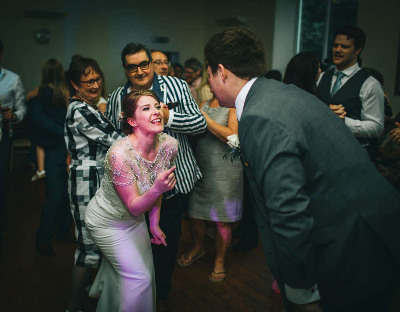 dancing - village hall wedding