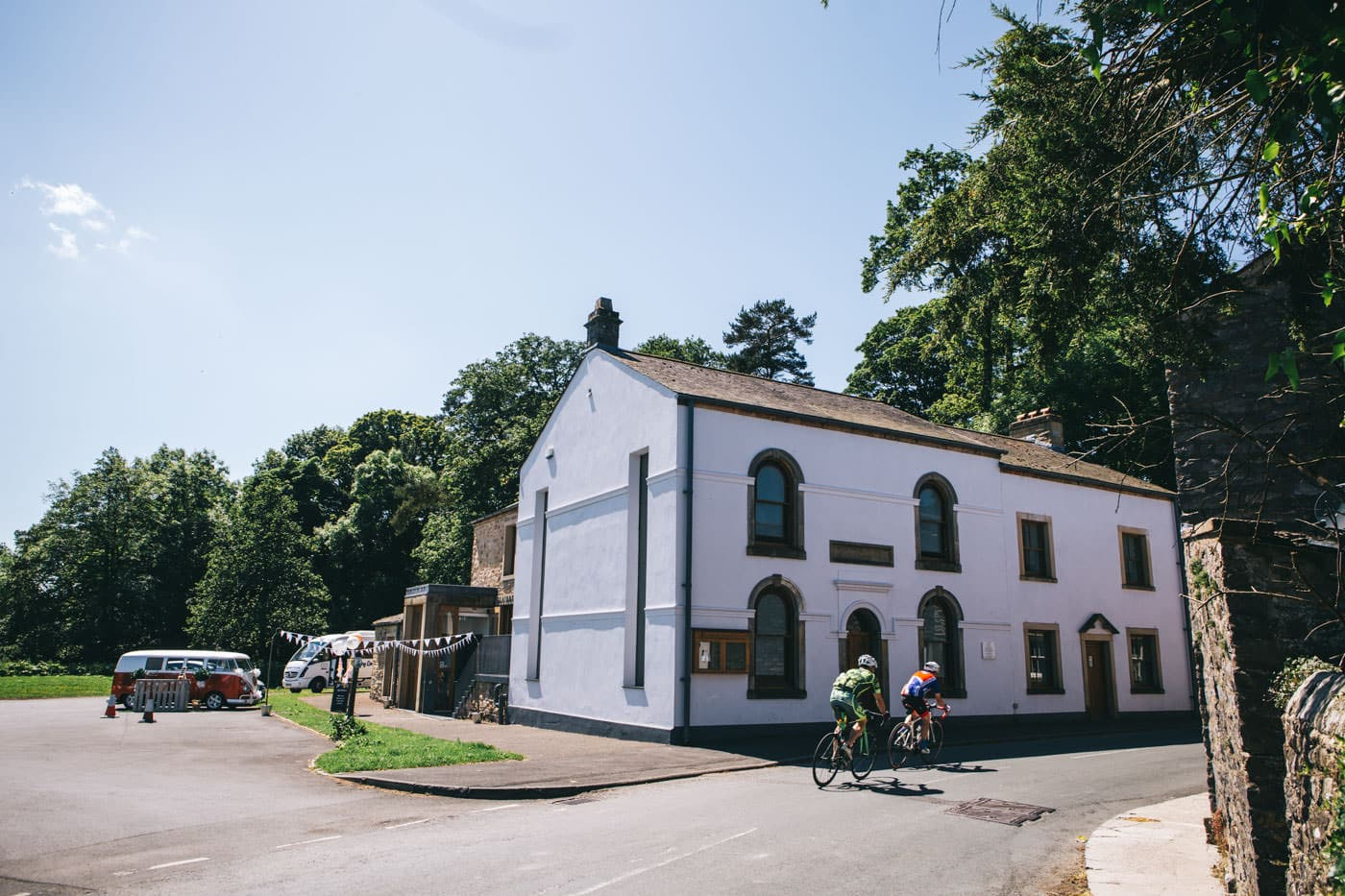 outside Slaidburn village hall