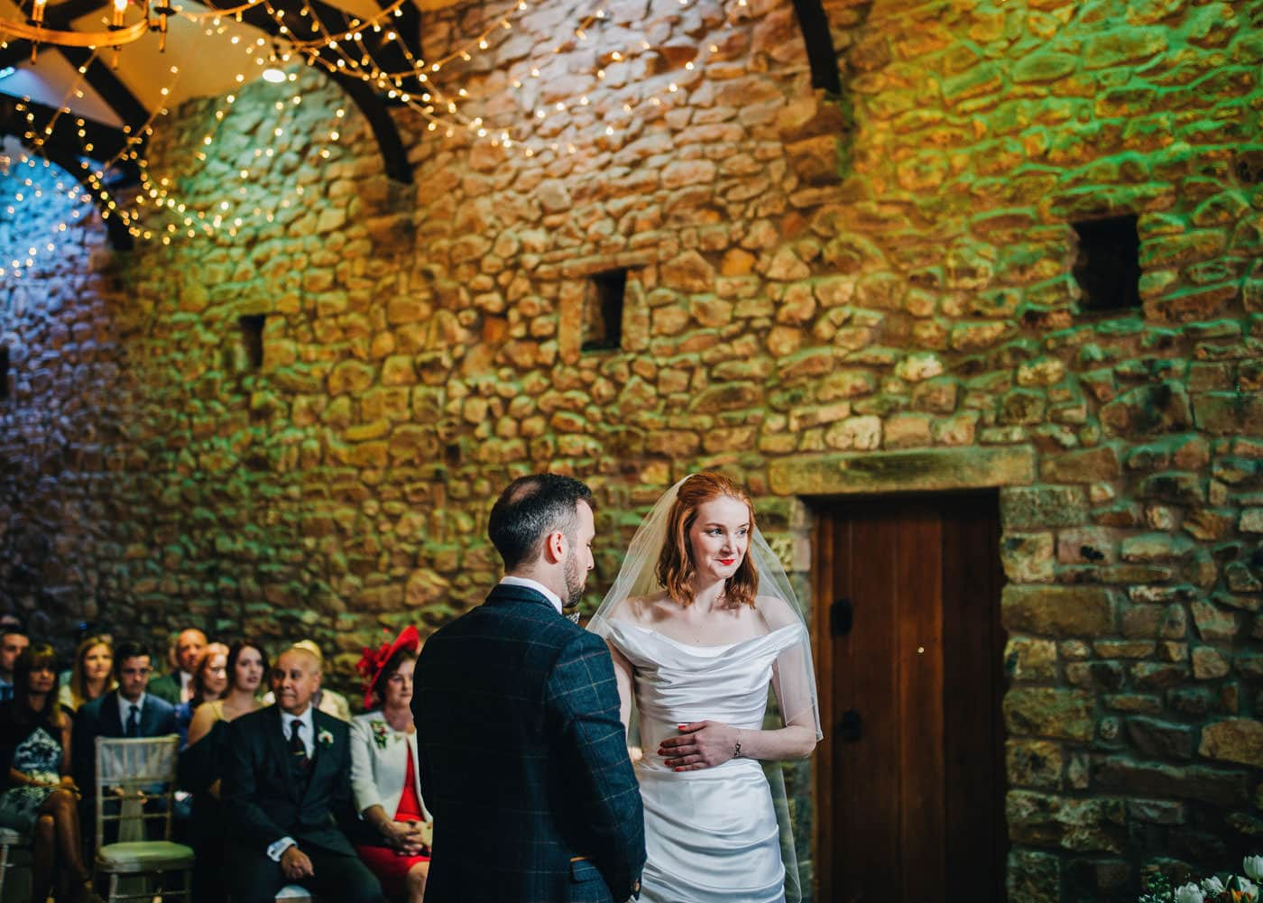 beautiful wedding ceremony at Browsholme Hall wedding venue