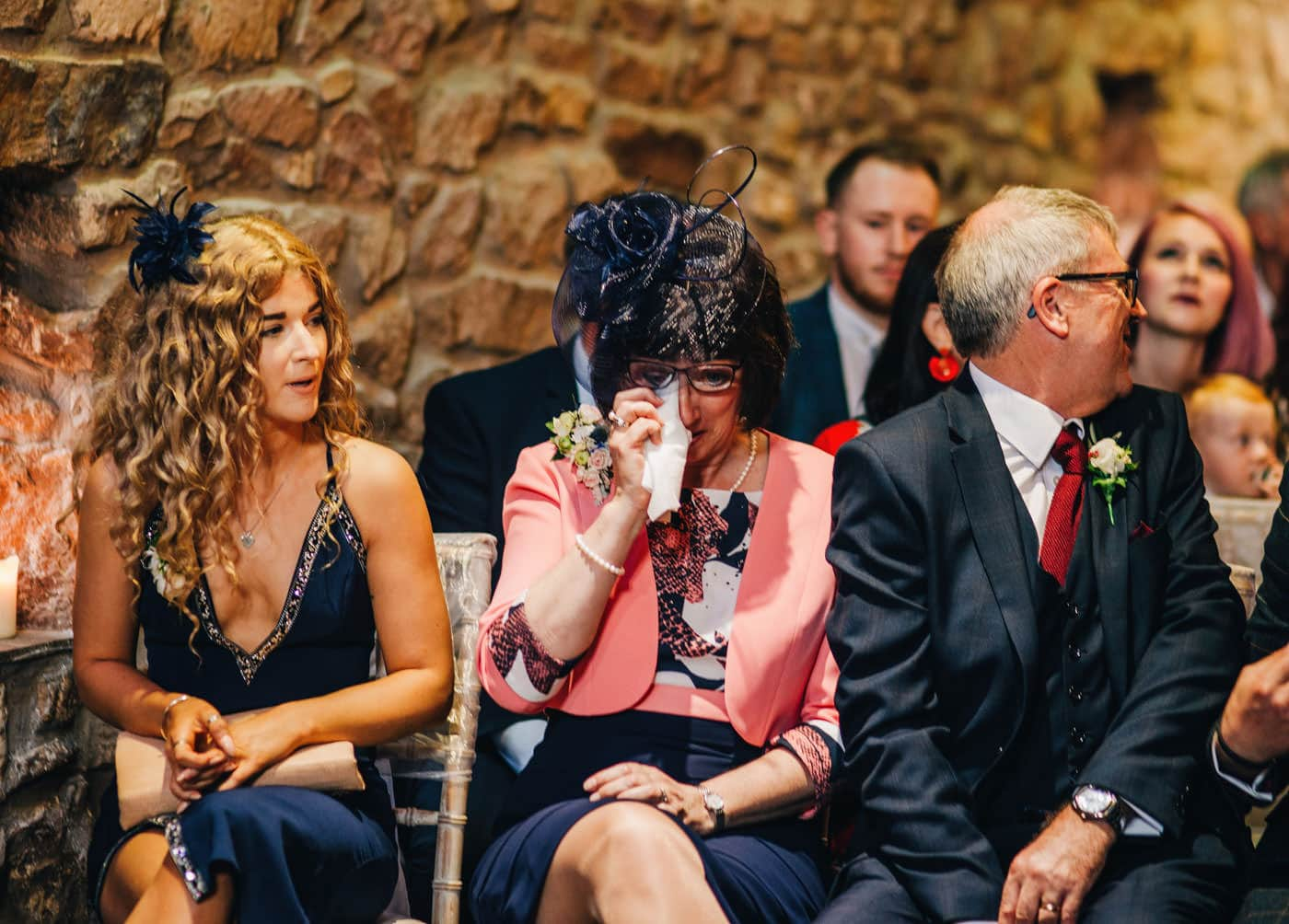 emotional mother at wedding