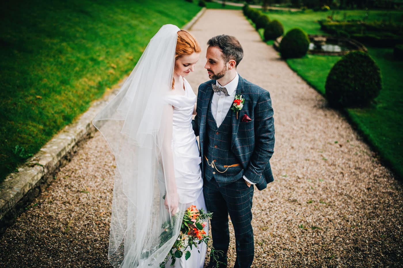 beautiful portraits at Browsholme Hall wedding venue Lancashire