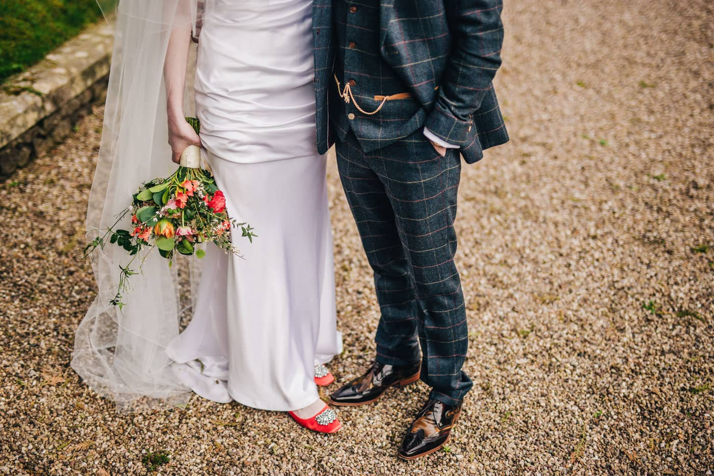 stylish bride and groom - lancashire wedding photographer