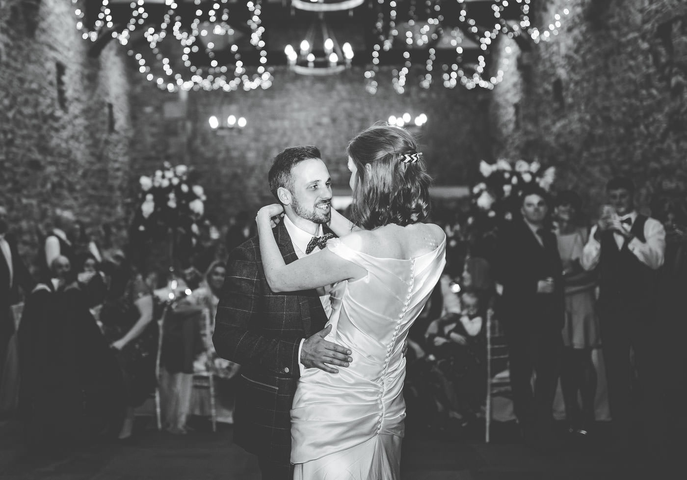 bride and groom first dance at Browsholme Hall