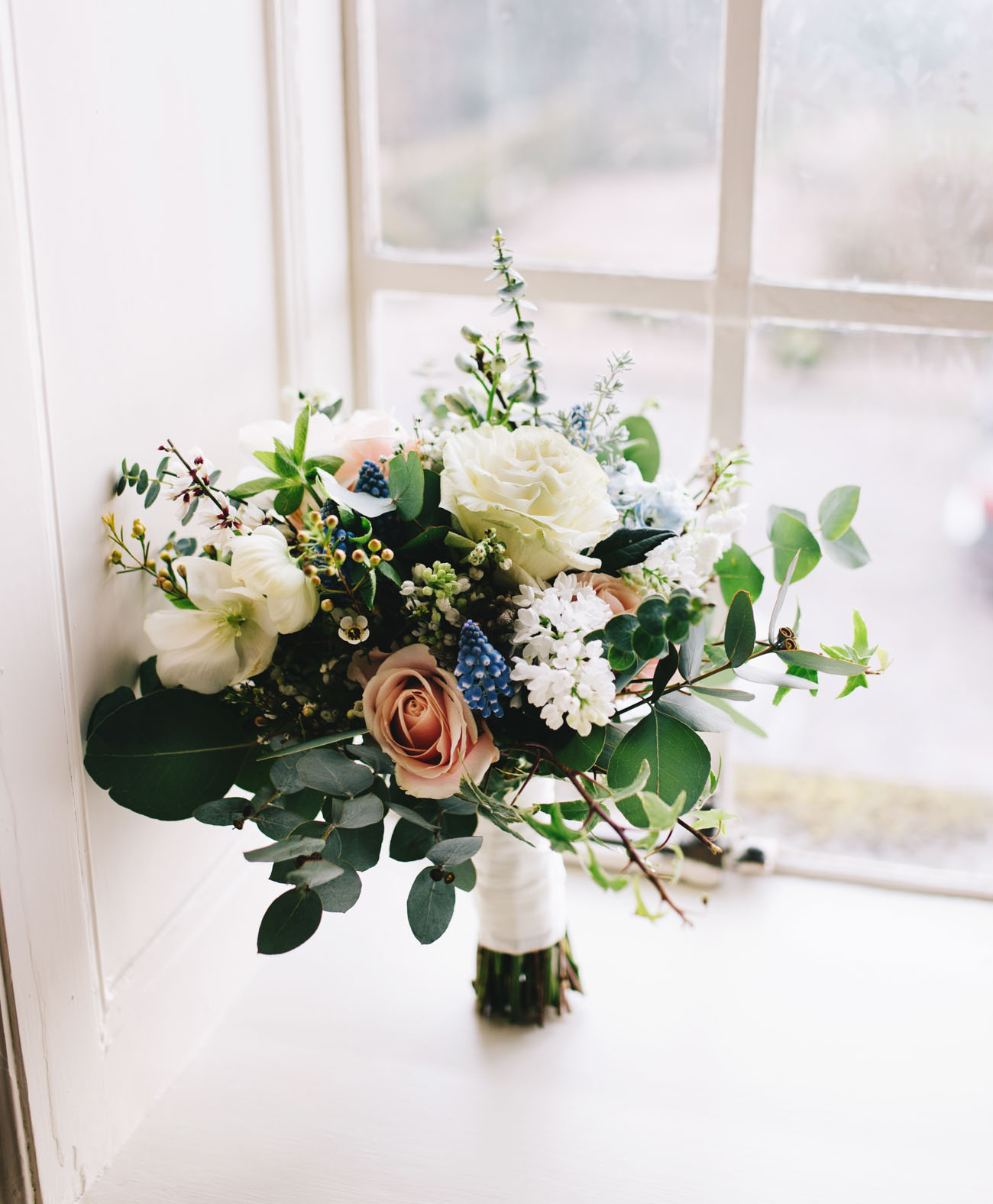 wedding bouquets at Eaves Hall - Lancashire wedding photographer