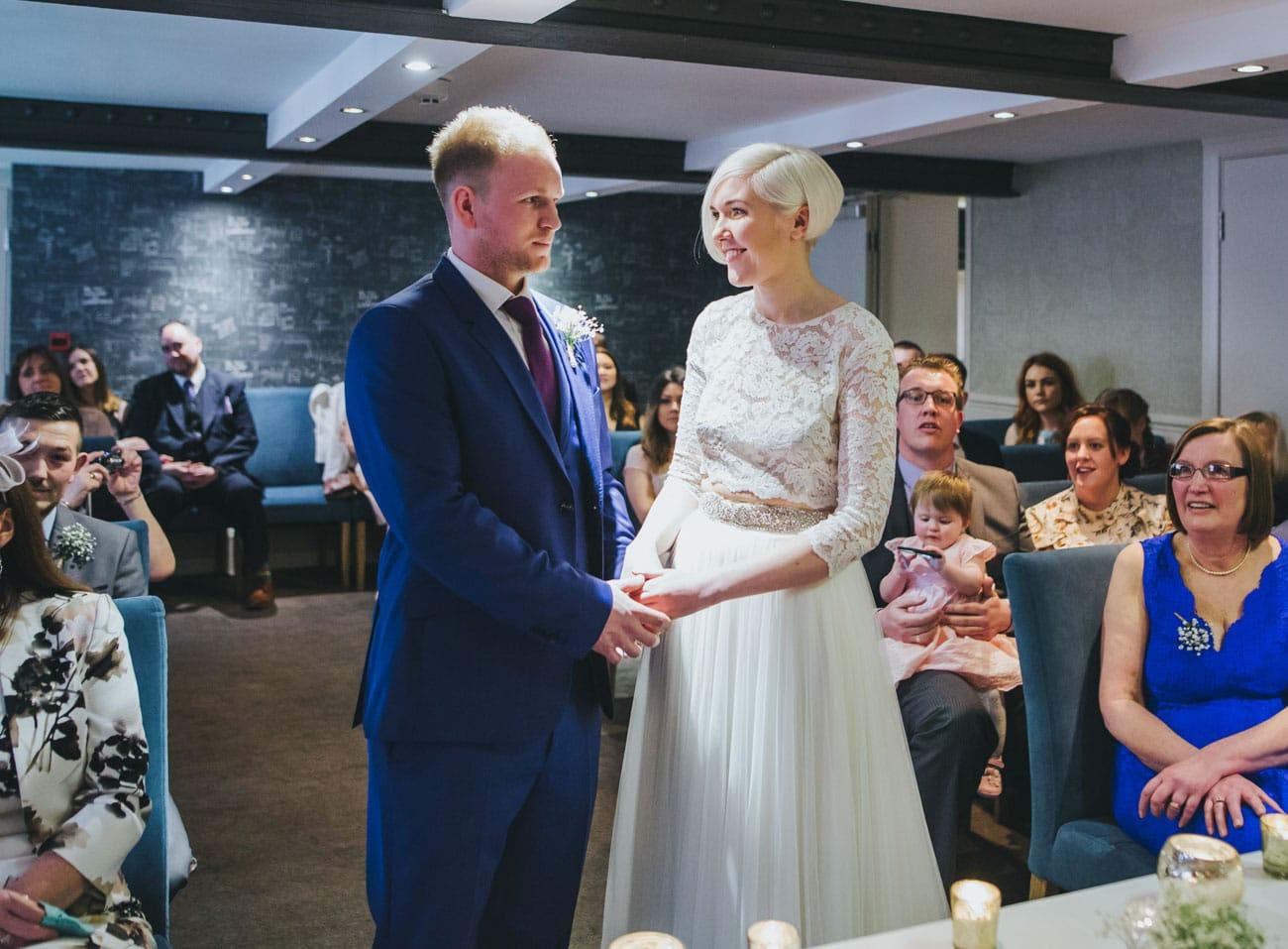 wedding ceremony at Great John Street hotel