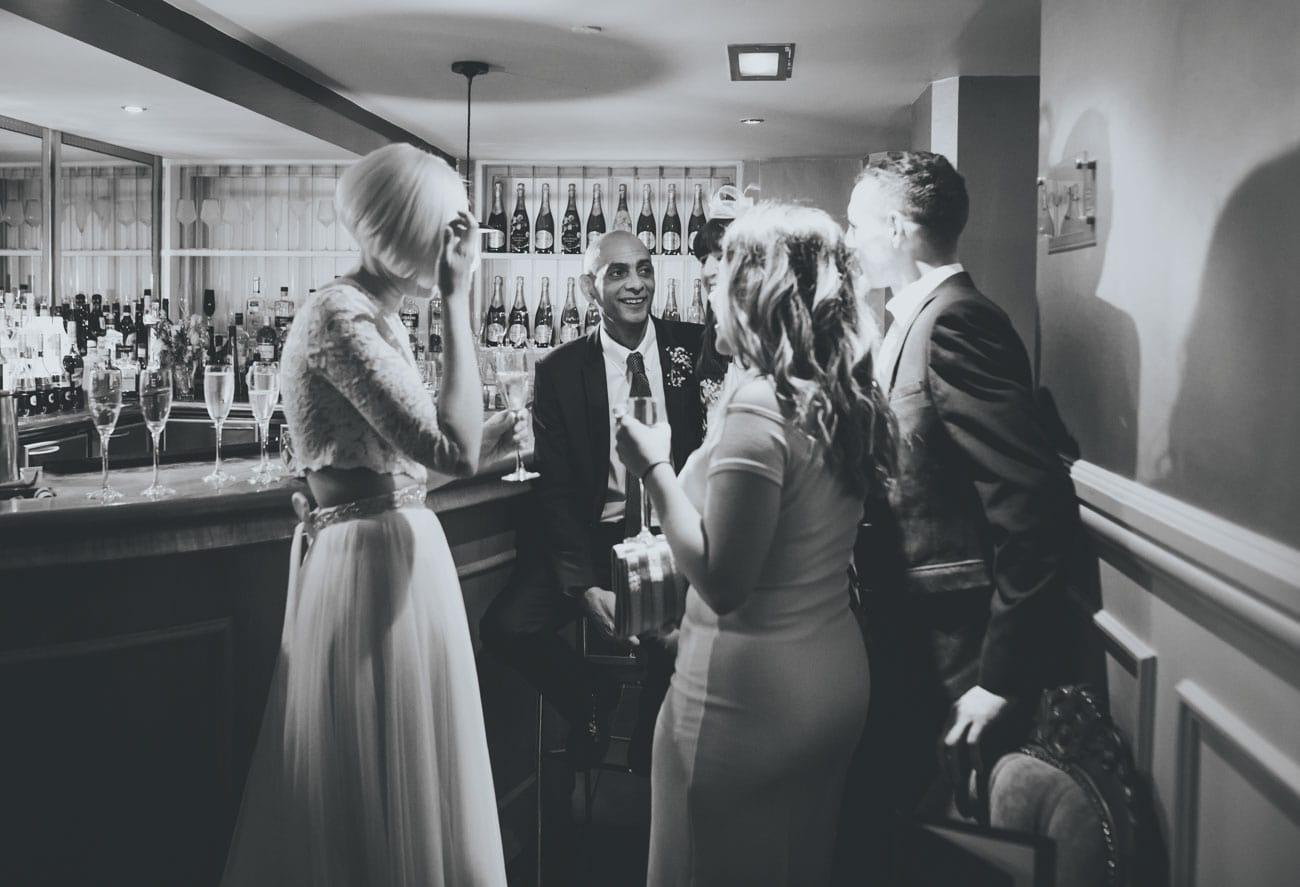 natural shots of guests at Great John Hotel Manchester