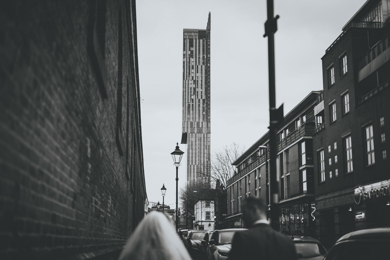 City centre wedding portraits