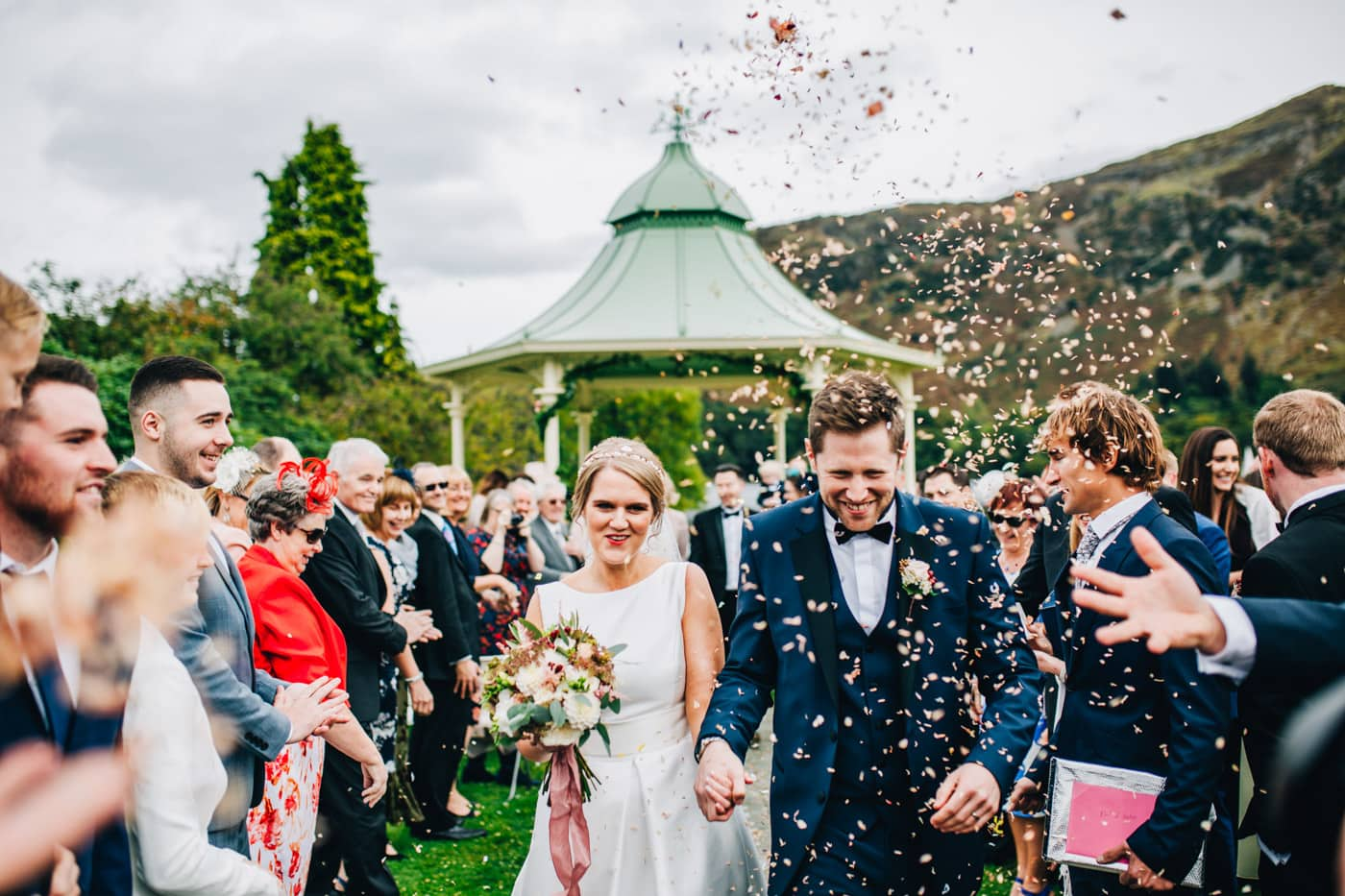 confetti - outdoor wedding ceremony
