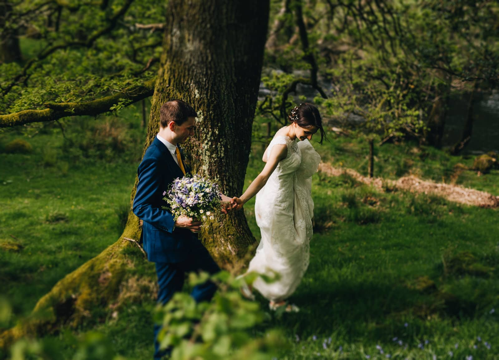 Lake District wedding photographer at Cote How