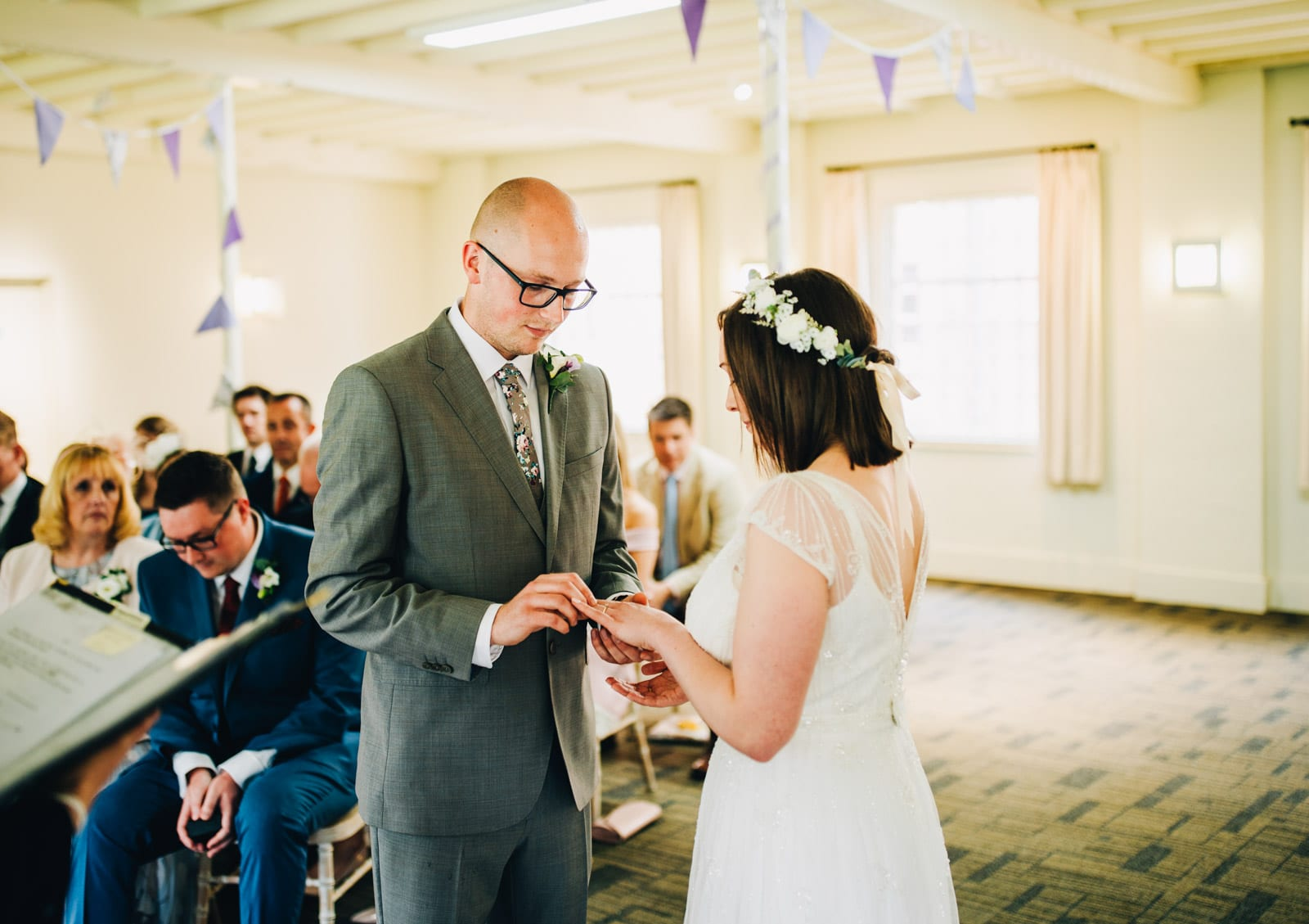 Wedding ceremony at Quarry Bank Mill Cheshire