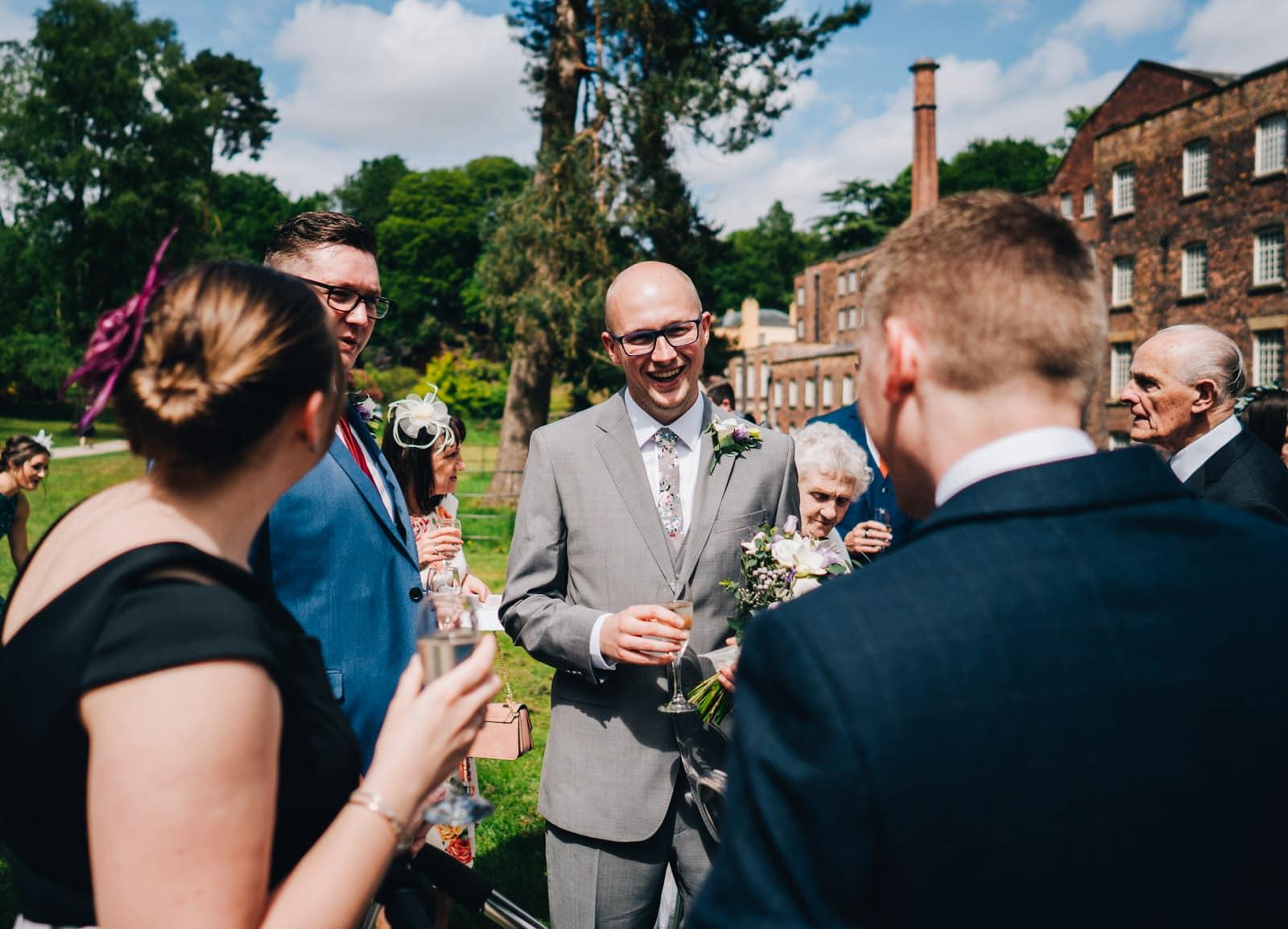 spring wedding at Quarry Bank Mill