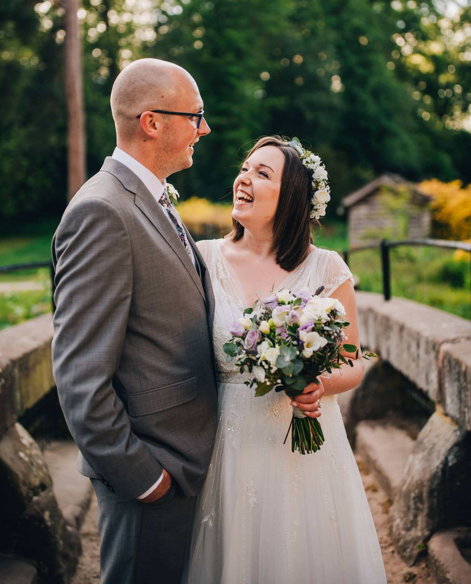 Natural wedding portraits at Quarry Bank Mill