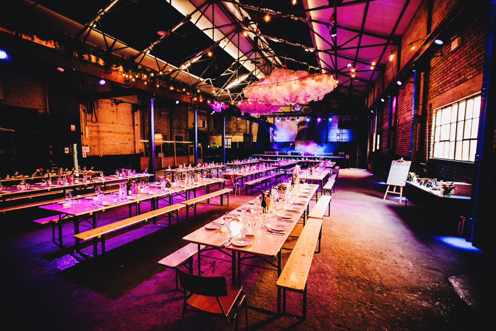 wedding set up at Camp and Furnace in Liverpool